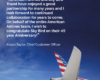 Congratulations on 45 years from Alison Taylor, Chief Customer Officer from American Airlines