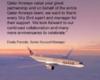 Congratulations from Qatar Airways