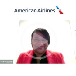 American Airlines representative sending their video congratulations