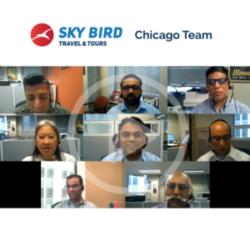 Sky Bird Travel and Tours Chicago team sending congratulations